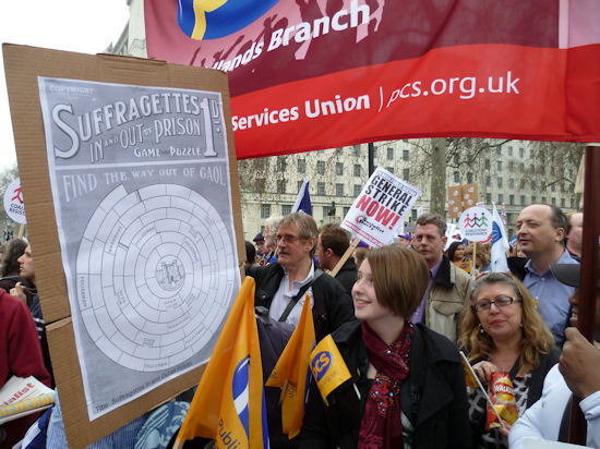 Some Westminster PCS activists on the March